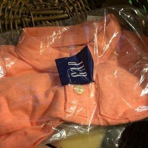 Soft knit cotton polo shirt